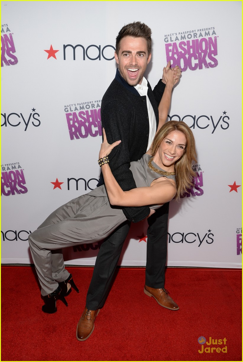 Allison Holker from Dancing with the Stars wears her Hazy Grey Electric Shock Jumper to a Fashion Rocks Event