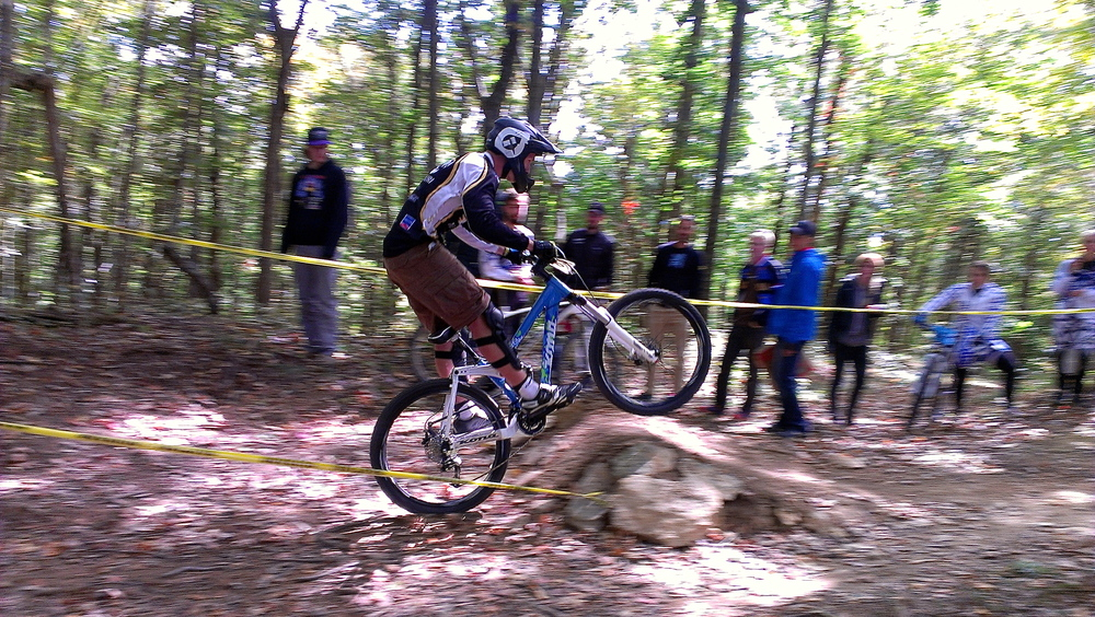 Kyle Nelson during the Lindsey Wilson College Downhill fall 2012