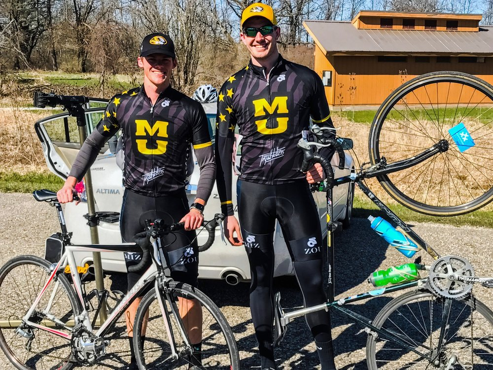 Andrew Voth and Henry Gentle after the Michigan State University Road Race