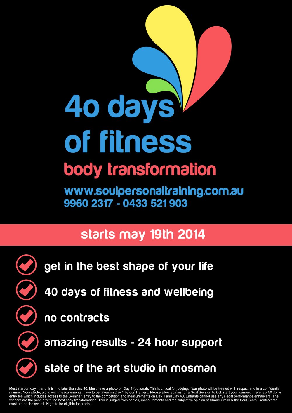 40 Days of Fitness Starts May 19th