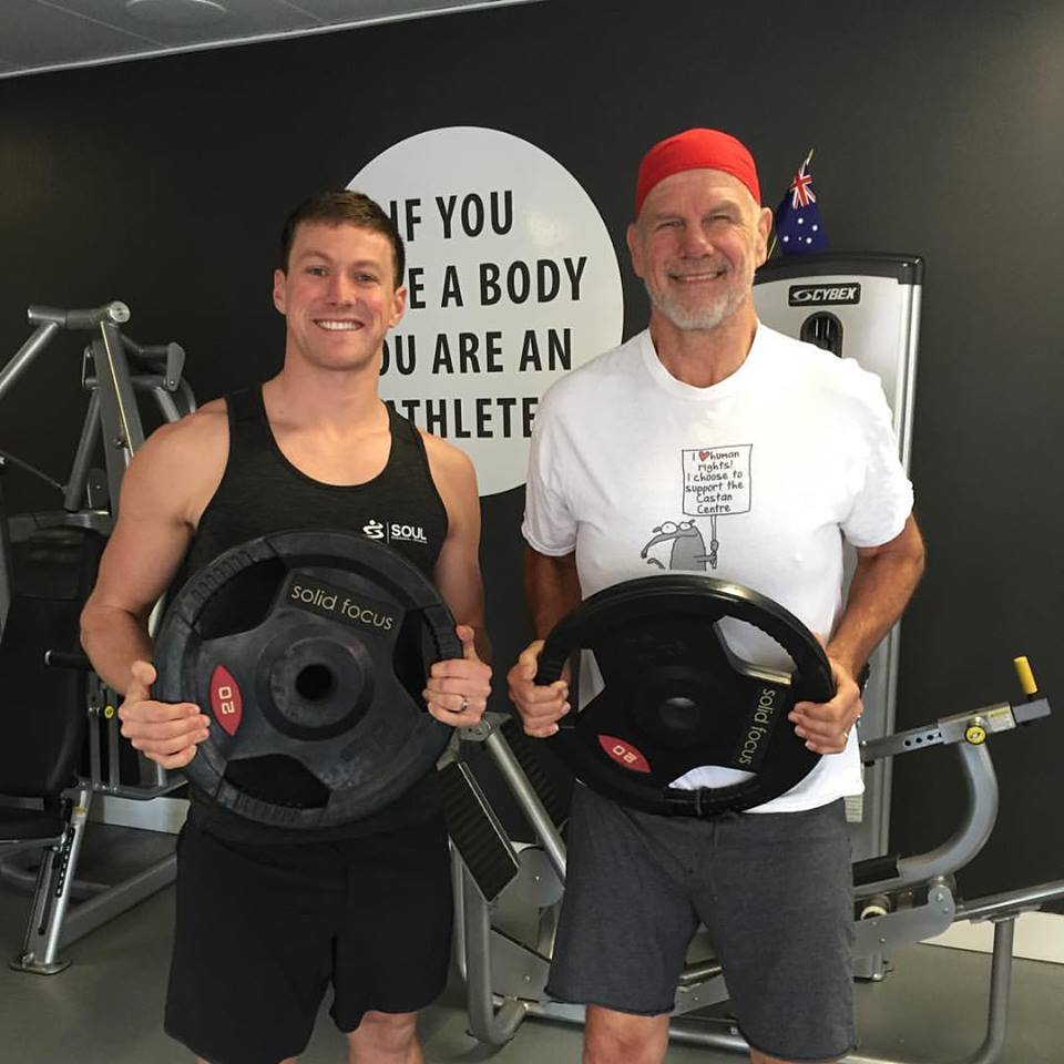A huge congratulations to this weeks MVP - Peter FitzSimons on his massive achievements since joining Soul! You can see Peter with his trainer Shane Cross holding the 42.5kg he has lost to date! His dedication to his PT Sessions, Nutrition and persistence at hitting PB's every week has paid off! 😀👊🏻💪🏻