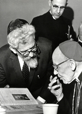 Rabbi Heschel and Cardinal Bea at the Vatican.