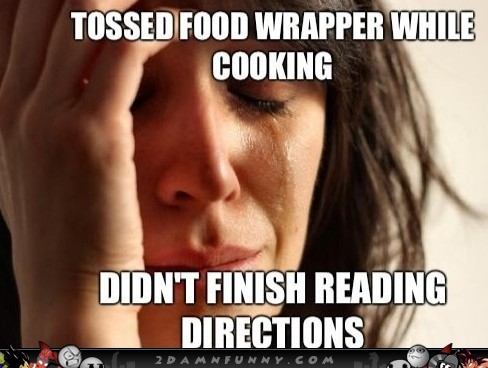 First-World-Problems-Girl-Tosses-Food-Wrapper-Wile-Cooking.jpg