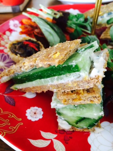 cucumber sandwiches - so good!