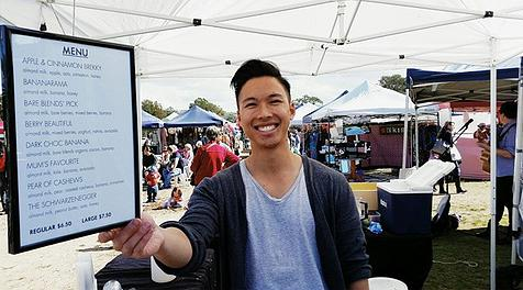 Vuong at Inside Out's Bondi Market stall - Every Saturday you can see this handsome face - ladies, yes, he is single ;)