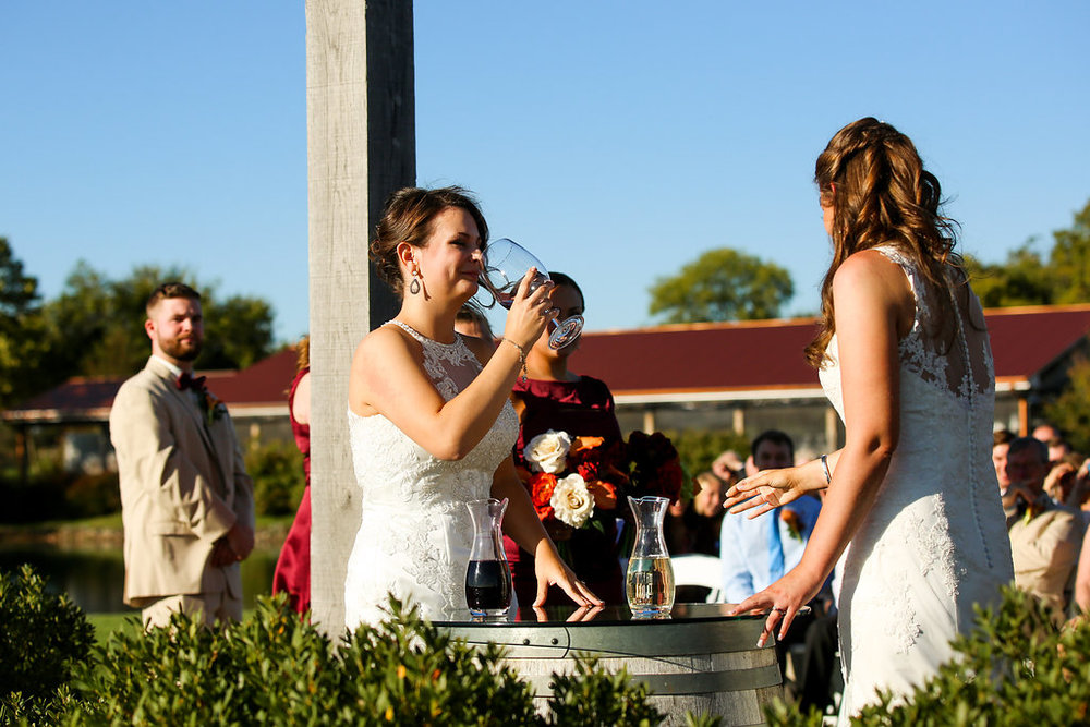 Old-House-Vineyards-Wedding-Wine-Ceremony