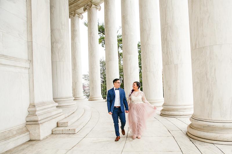Washington-DC-Jefferson-Memorial-Cherry-Blossom-Engagement-Session