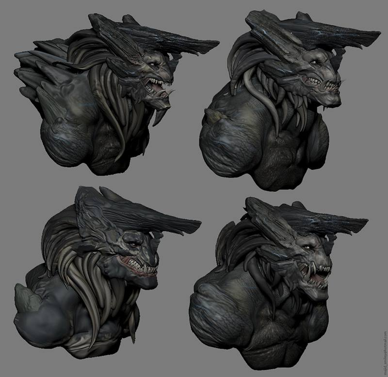 some creature design test in ZBrush