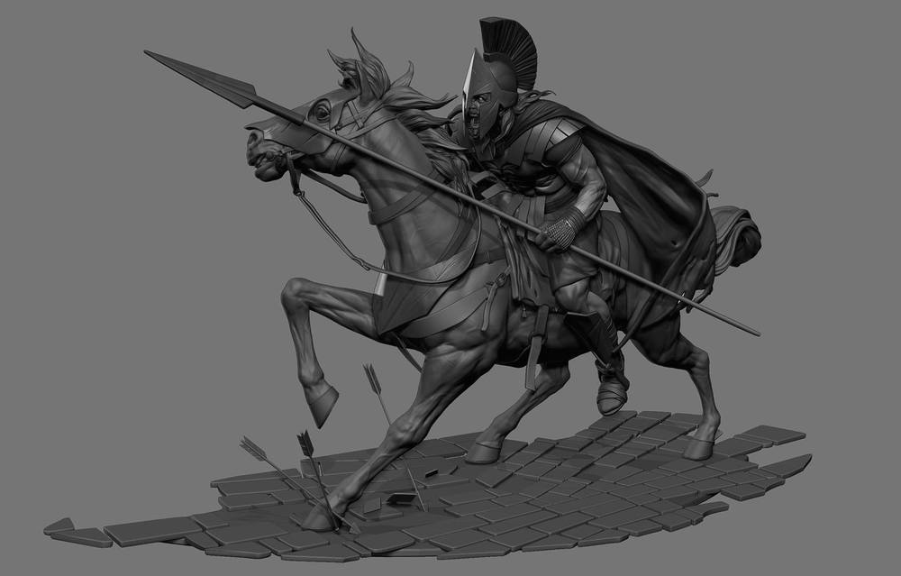 my ZBrush design for Game Of War at The Mill