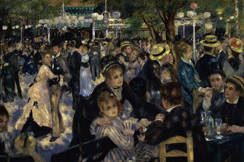 "Renoir's painting ""Moulin de la Galette"" hangs in the Musée d'Orsay.  This former functioning windmill can still be seen in a visit to Montmartre."