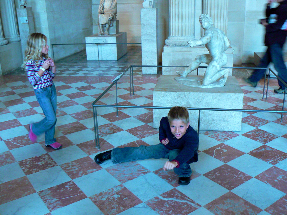 Marley and Zeb at the Louvre March 22 07.jpg