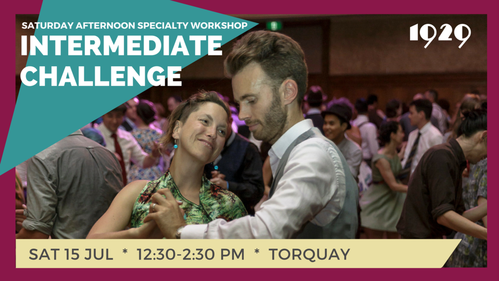 Join Lexi Keeton and Michael Collins, your Surf Coast Swing teachers, for two hours of challenging your dancing. Come ready to work on some skills, moves and make your dance step up a notch. Price: $40 -- Members 50% OFF. Click HERE to sign up!