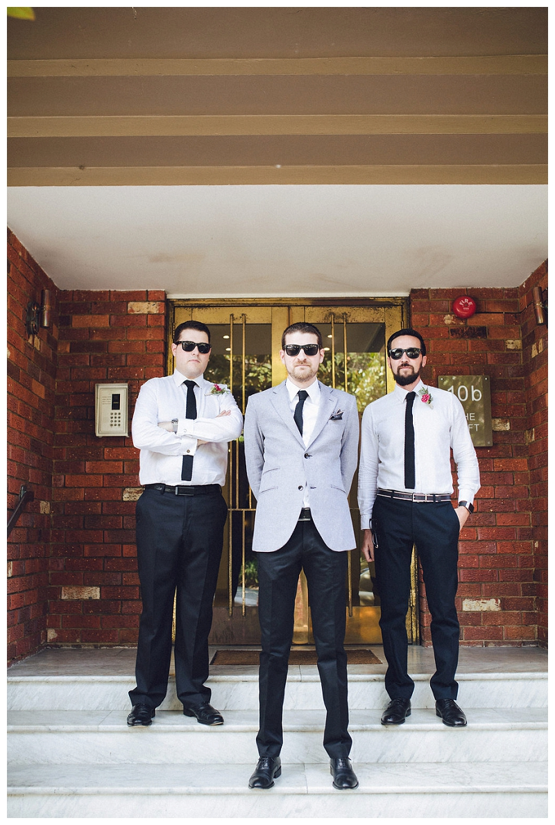 Groom and Groomsmen portraits  | Sydney Wedding