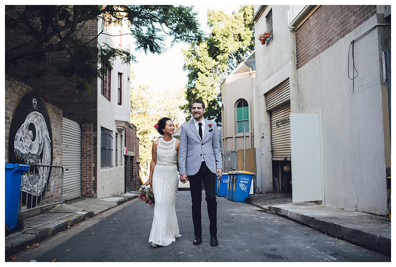 Bride and Groom Portraits | Crane Bar, Sydney Wedding