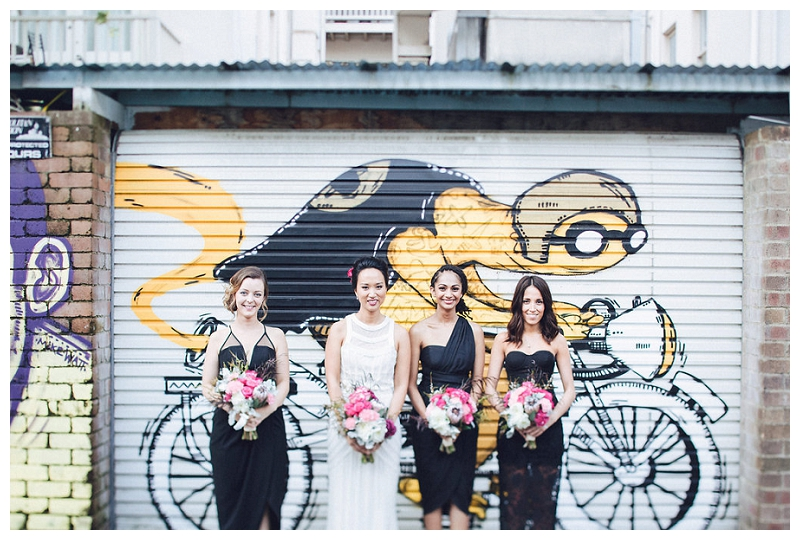 Bride and Bridesmaids | Crane Bar, Sydney Wedding