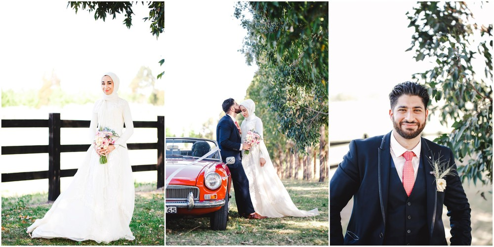 couple portraits with car polo club sydney