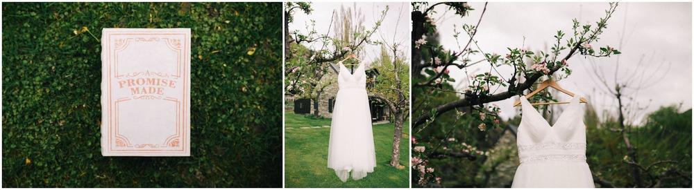 wedding dress in a tree