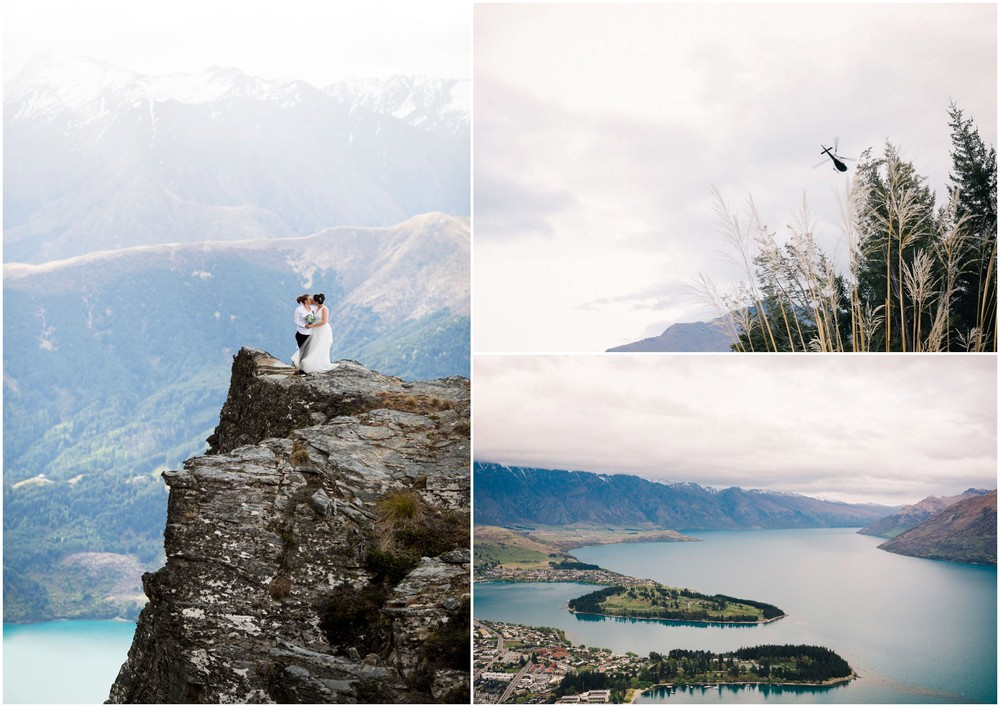 helicopter amazing view same sex wedding queenstown