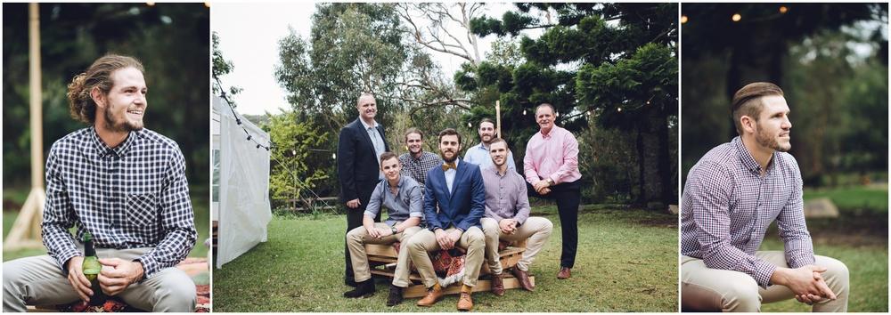 portraits of groomsmen
