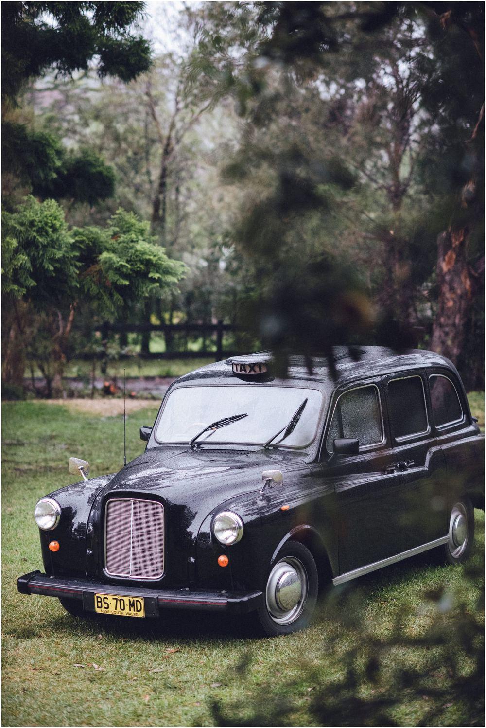 wedding black cab