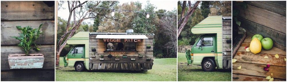 wedding food truck veggie patch van