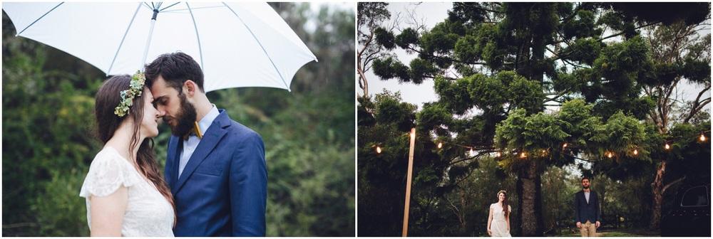 rainy wedding oxford falls peace park
