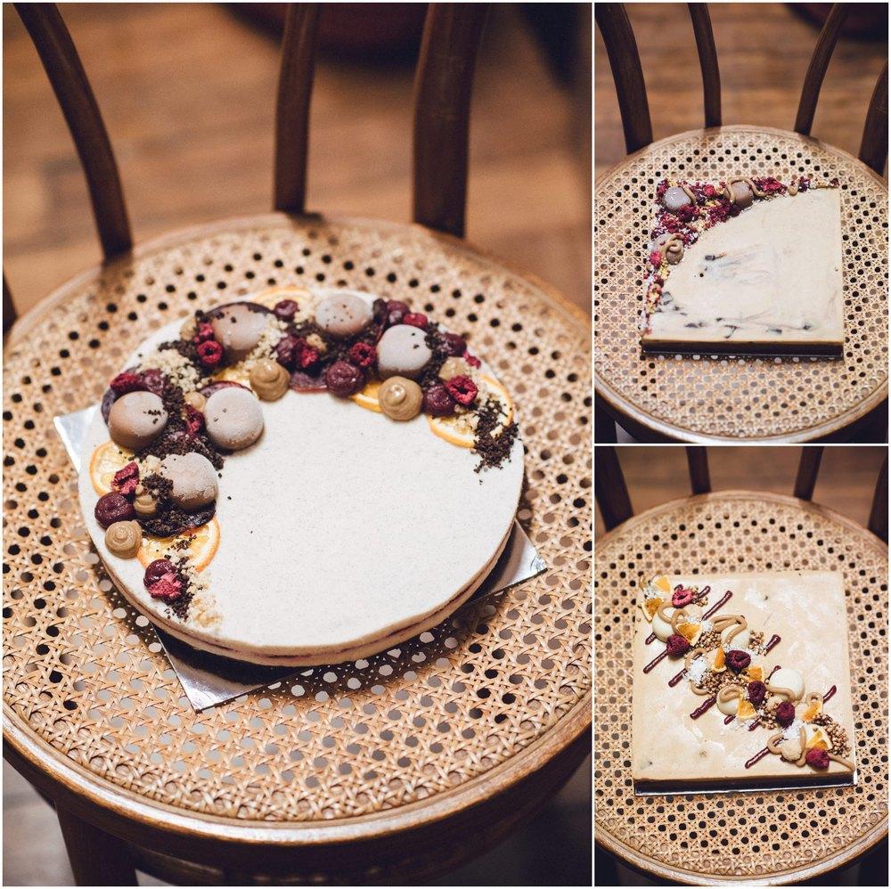 pana chocolate vegan wedding cake