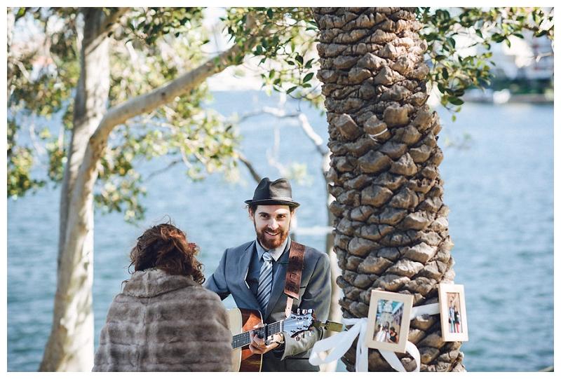 musician -  cremorne reserve waterside wedding