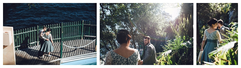 cremorne reserve waterside wedding - bride and groom portraits