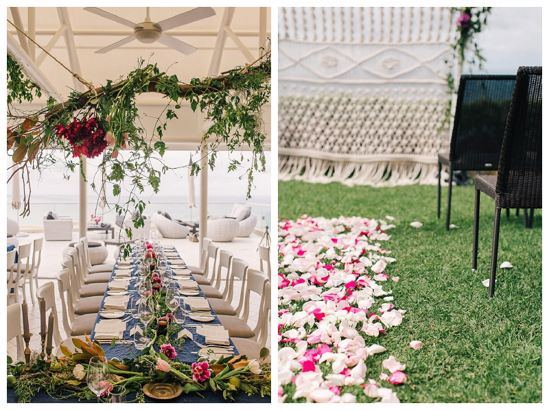 jonah's whale beach wedding reception styling