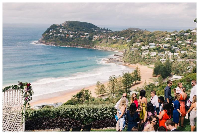 jonah's whale beach wedding ceremony sydney
