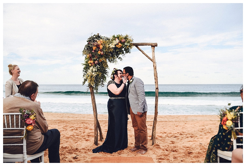 Wedding Ceremony at Whale Beach