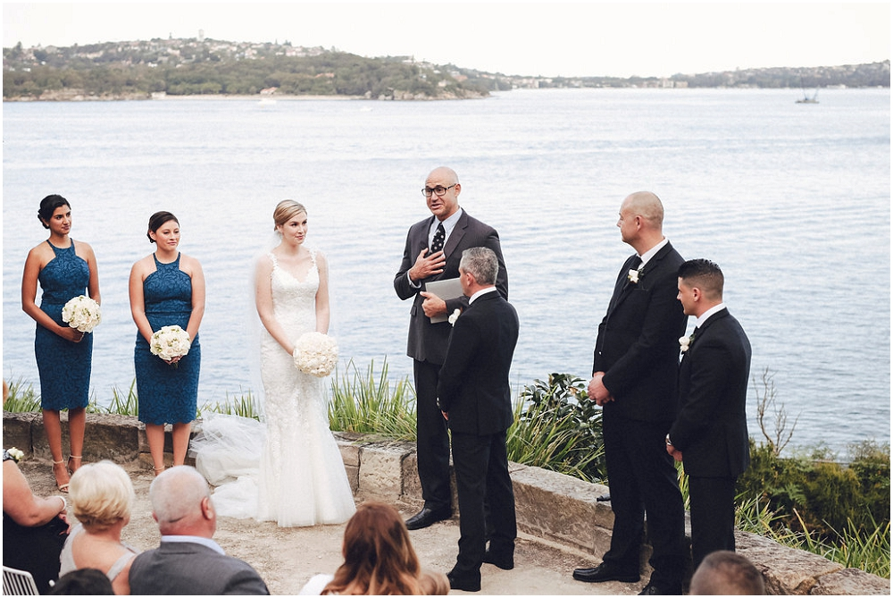 Wedding Ceremony at Sergeant's Mess in Chowder Bay