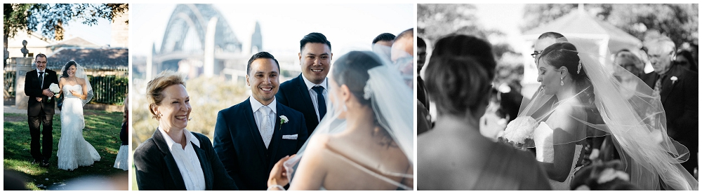 Wedding Ceremony at Sydney Observatory Hill Park