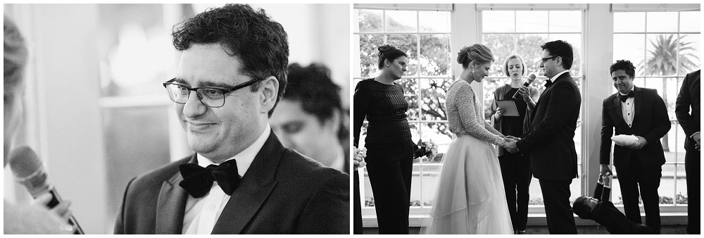 Wedding Ceremony at Dunbar House in Watsons Bay