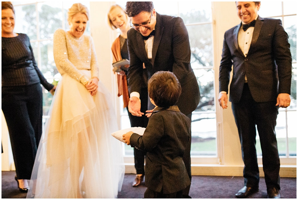 Cute Ring Bearer in Tuxedo