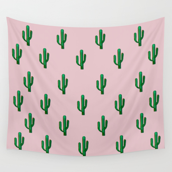 pink cactus photo booth backdrop