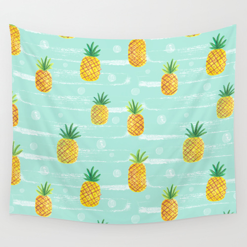 pineapple photo booth backdrop
