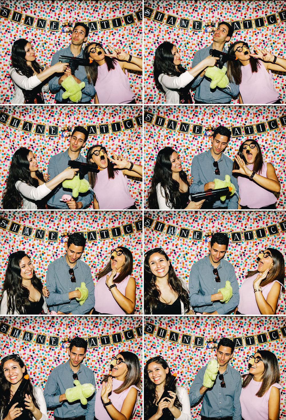 Sydney engagement party photo booth - confetti backdrop