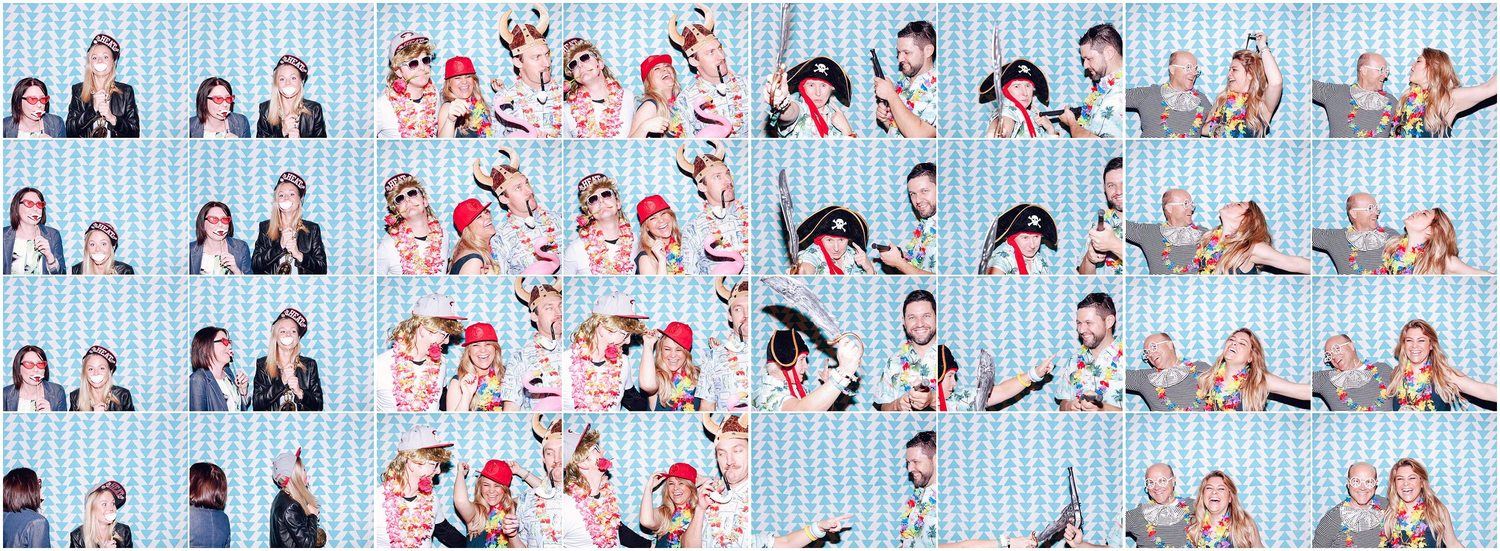 Bowral company conference photo booth - triangles backdrop