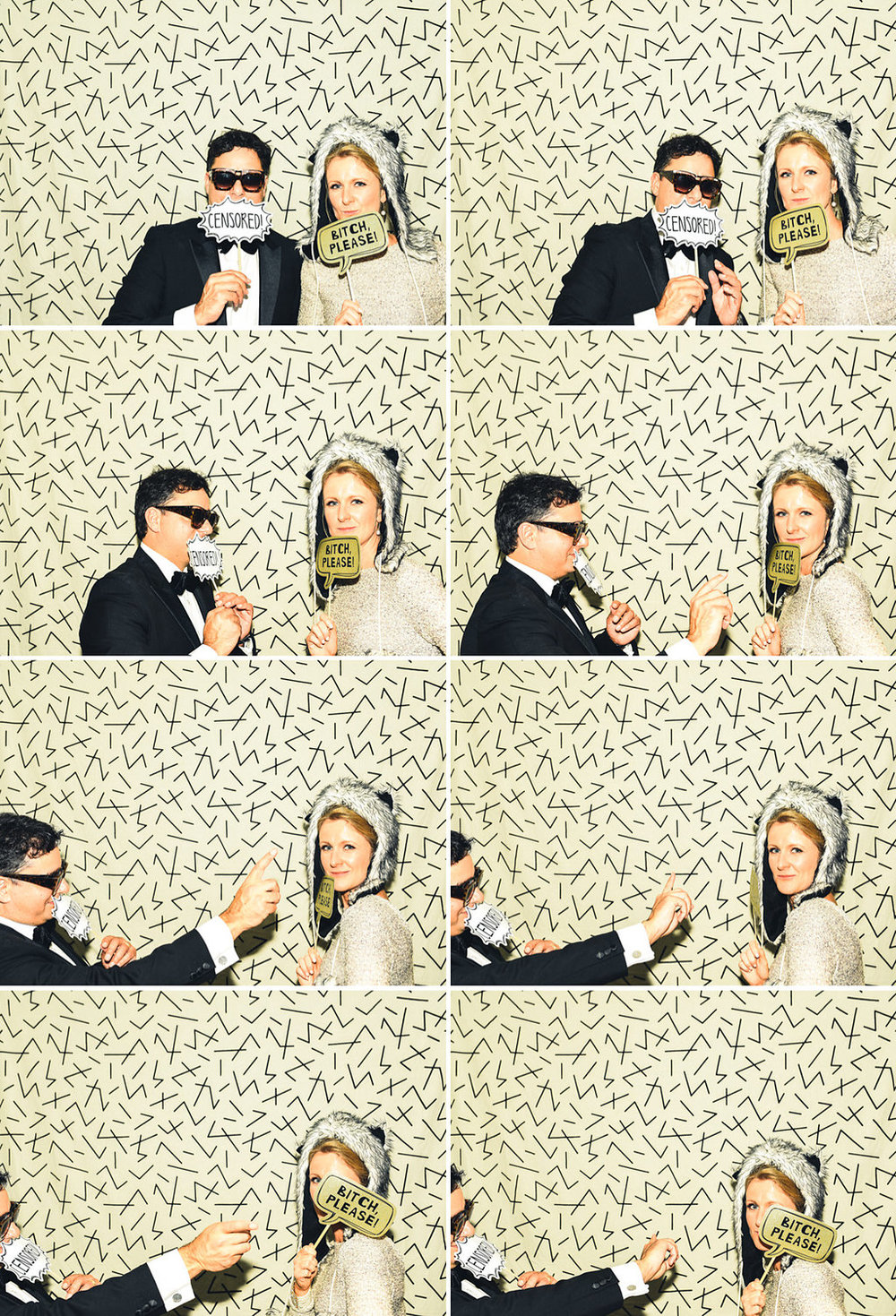 sydney wedding photo booth - zig zag backdrop