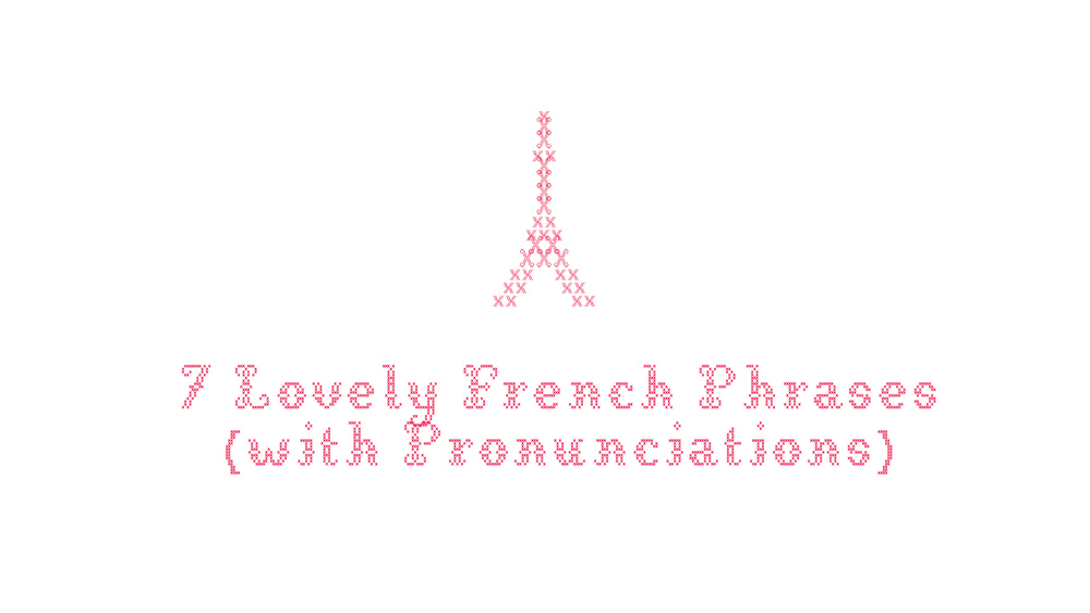 7 lovely French phrases - cross stitch image