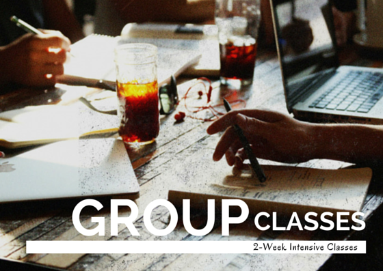 OUR GROUP CLASS INTENSIVES WILL HELP YOU DRASTICALLY IMPROVE YOUR LANGUAGE SKILLS.  LEARN MORE...