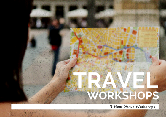 TRAVELING THIS SUMMER? OUR TRAVEL WORKSHOPS WILL GIVE YOU ALL THE TOOLS YOU NEED TO GET BY OVERSEAS!  LEARN MORE...