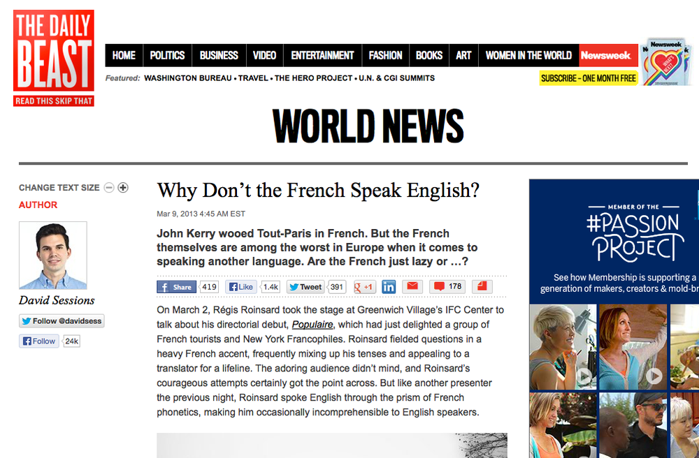 JP Linguistics in The Daily Beast
