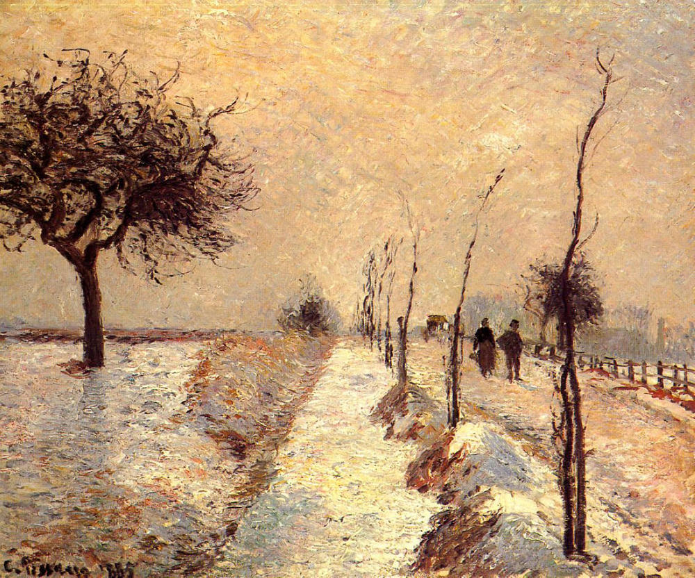 Road at Eragny, Winter - Camille Pissarro  (Image: www.wikiart.org)