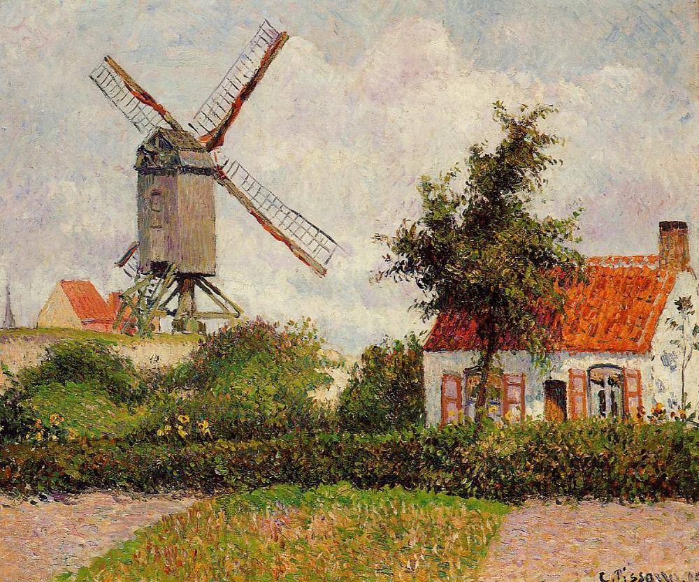 Windmill at Knokke, Belgium - Camille Pissarr0  (Image:www.wikiart.org)