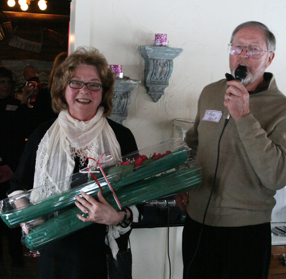 Jenny receives the Alpine Artisans 2012 Art Benefactor Award