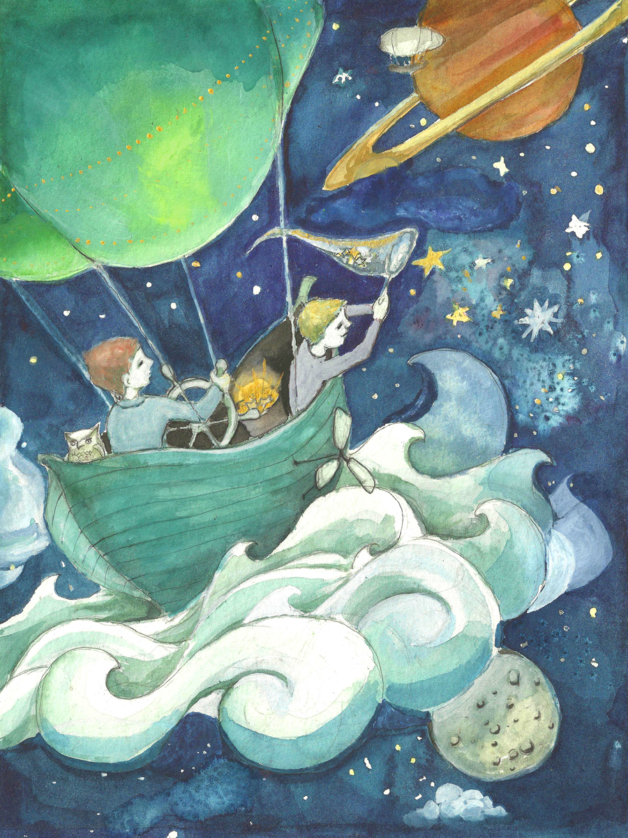 Star Fishing, 2014. Watercolor, ink, gouache.
