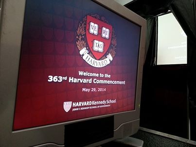 Our eighth year providing video for the Harvard University JFK School of Management Commencement!